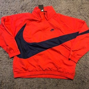Nike Big Swoosh Anorak Half Zip Jacket Mens LARGE